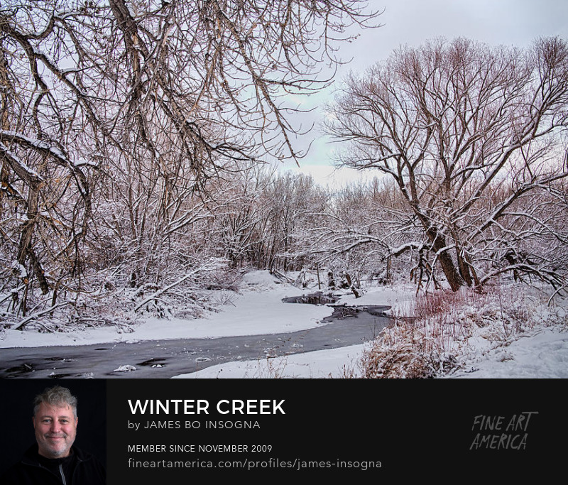 Winter Creek St Vrain Boulder County Colorado Photography Prints