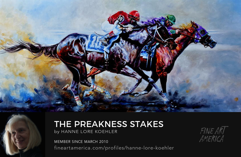 The Preakness Stakes Triple Crown Horse Race Painting