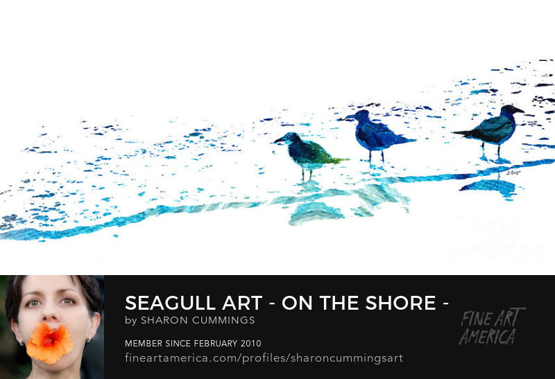 Seagull Art Prints Beach Decor
