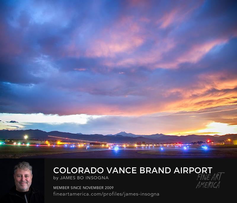 Colorado Vance Brand Airport Sunset View Art Print