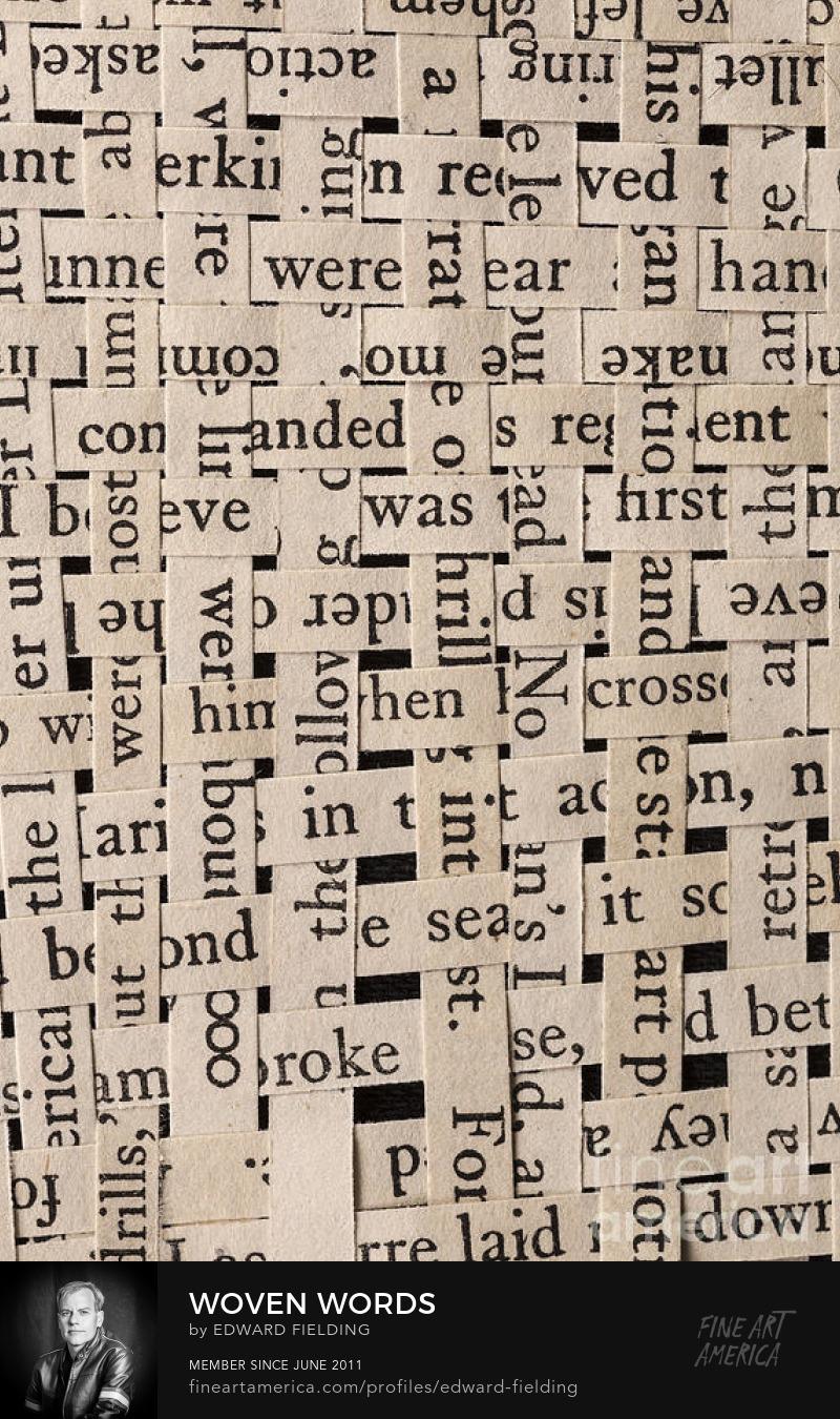 woven words Art Prints