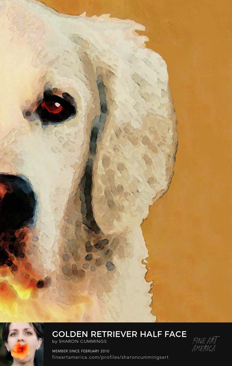 Golden Retriever Art Pet Portrait Prints