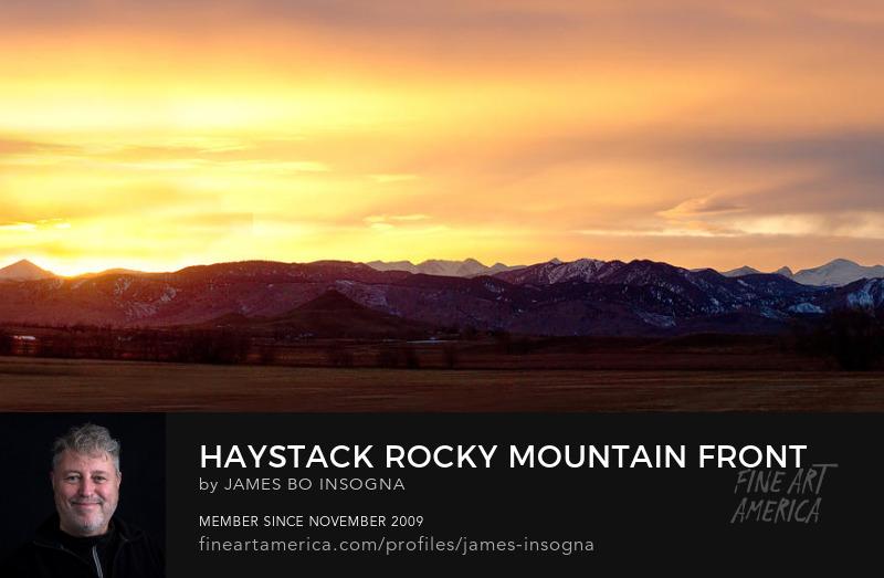 Haystack Rocky Mountain Front Range Sunset Panorama Art Print
