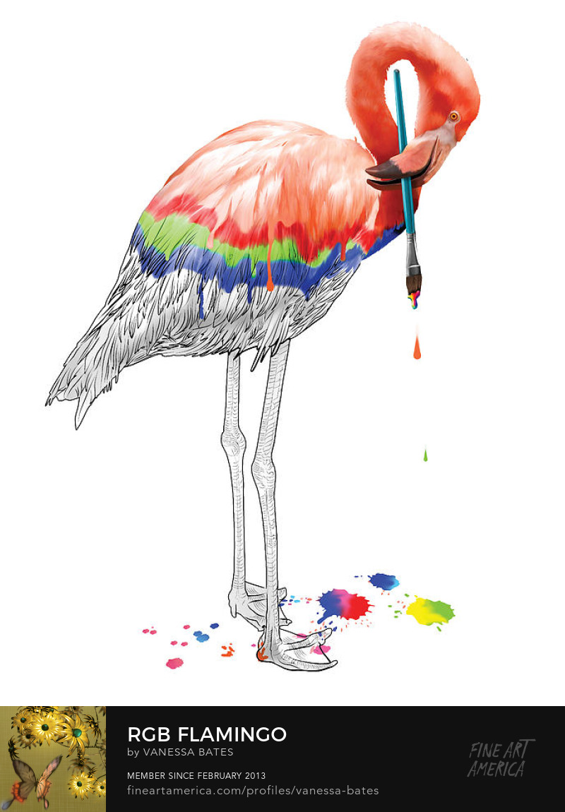 RGB Flamingo at studioinblue.com