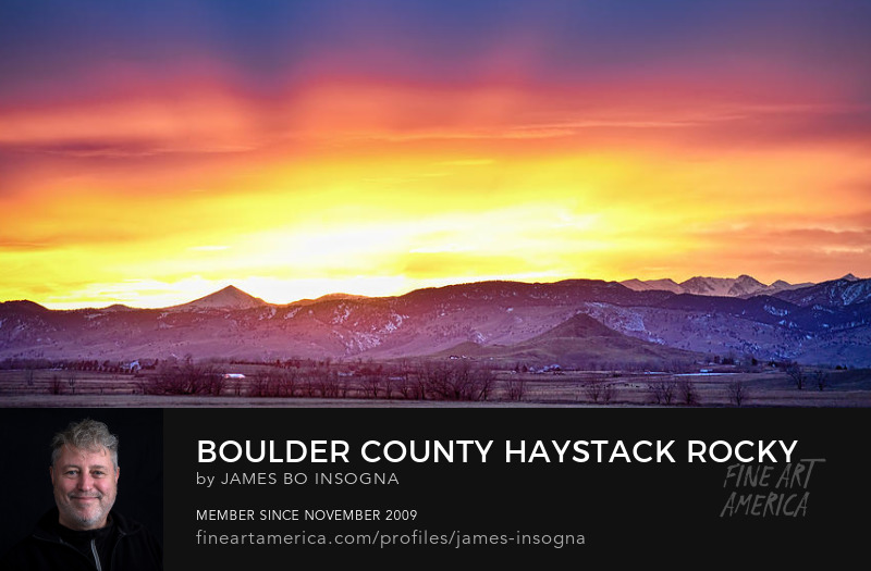Boulder County Haystack Rocky Mountain Sunset Print