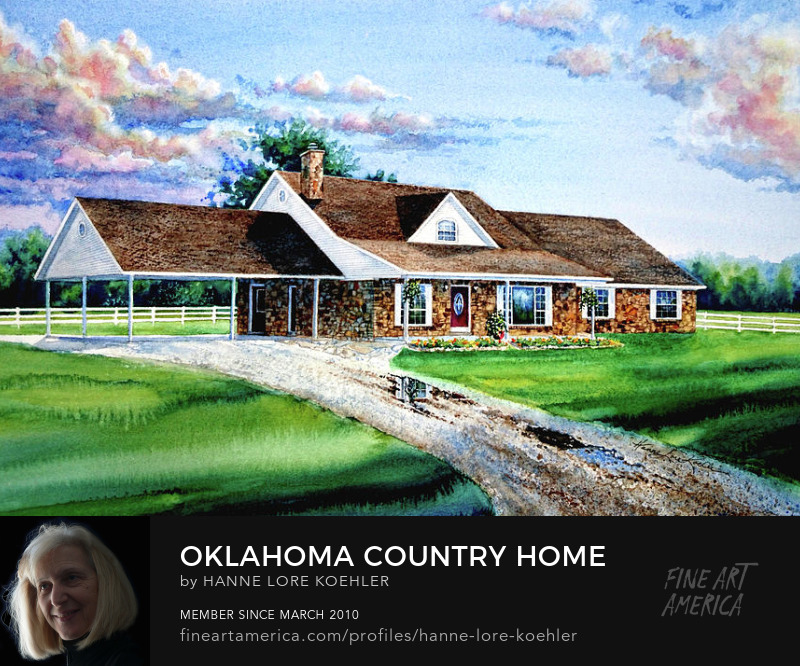 Oklahoma Country Home Portrait Commisssion