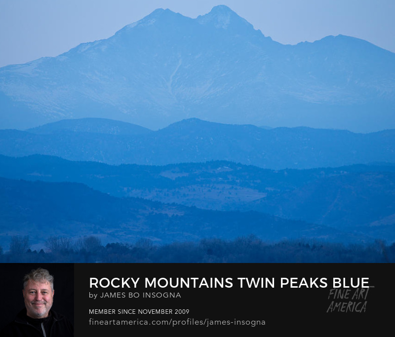 Rocky Mountains Twin Peaks Blue Haze Layers Art Prints