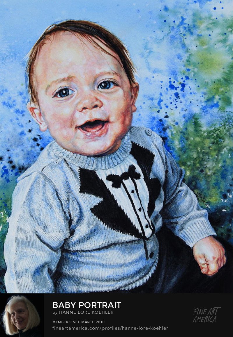 Baby Boy Portrait Commission