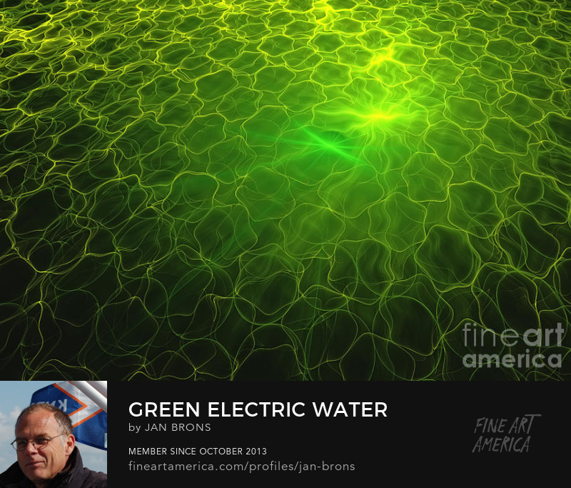 Green electric water - Sell Art Online
