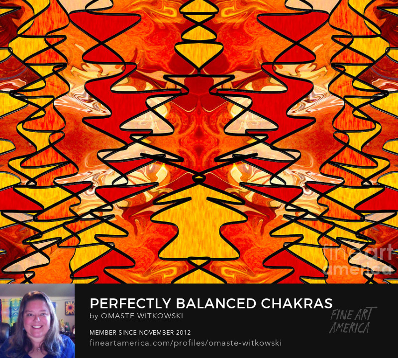 Perfectly Balanced Chakras Abstract Fabric Design Art Prints