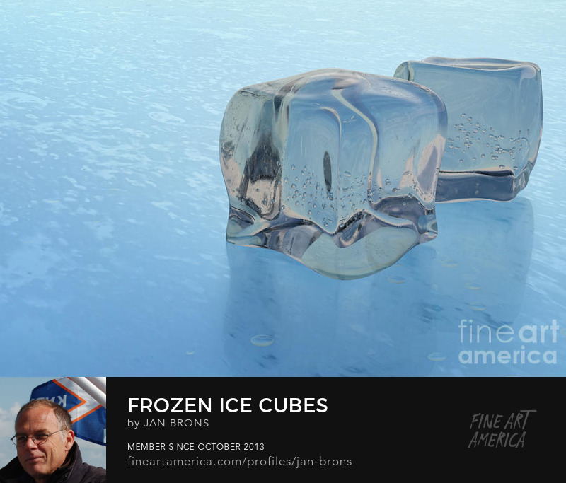Frozen ice cubes - Sell Art Online
