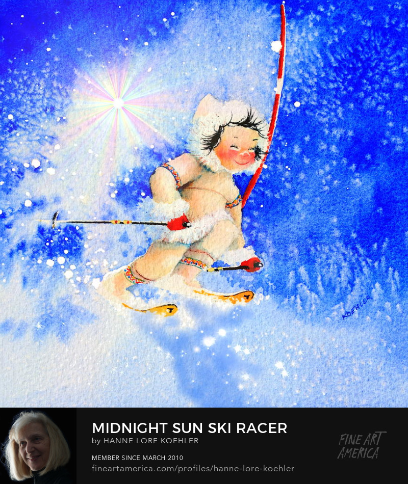 Ski Racer Art Prints For Young Children