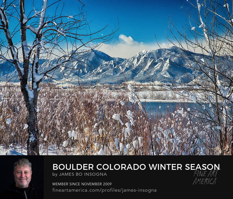 Boulder Colorado Snowy Scenic View Art Prints