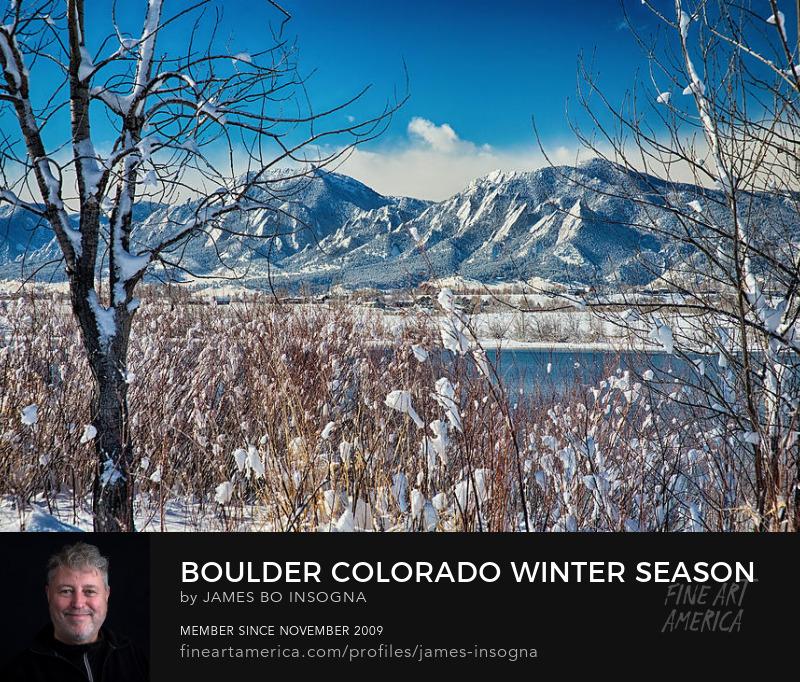 Boulder Colorado Winter Season Scenic View Art Prints