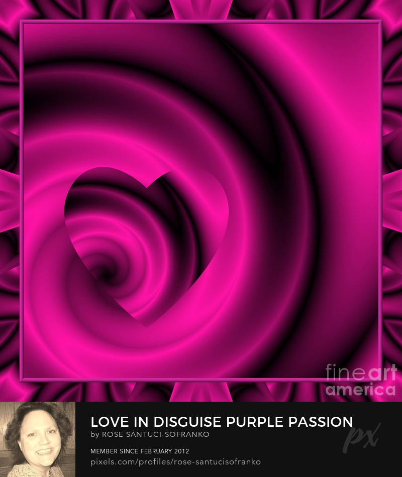 Love In Disguise Purple Passion Saint Valentines Day Romance Prints