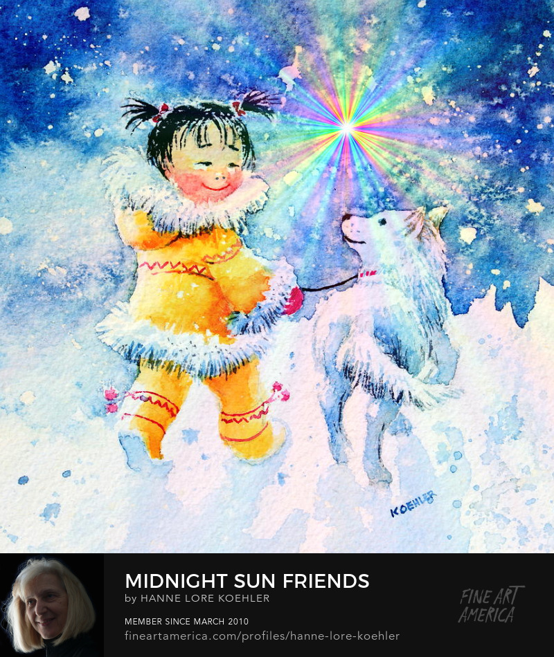 Midnight Sun Eskimo Art Prints For Little Kids