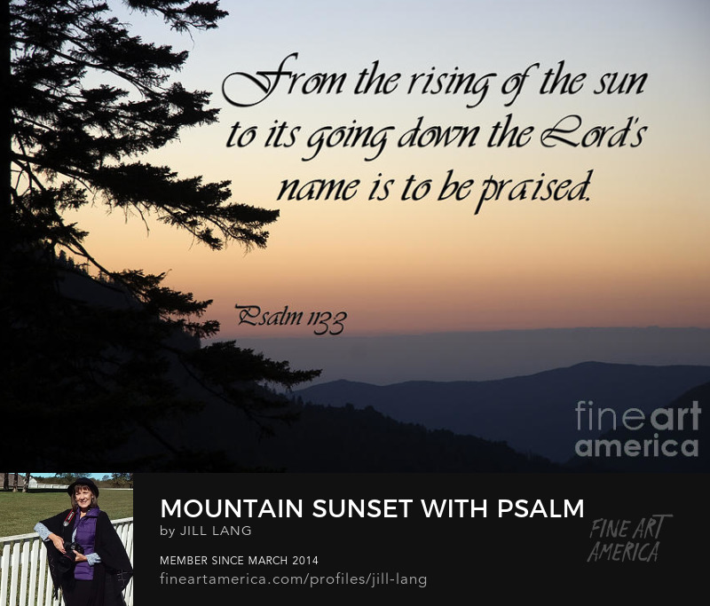 Scripture with Mountains