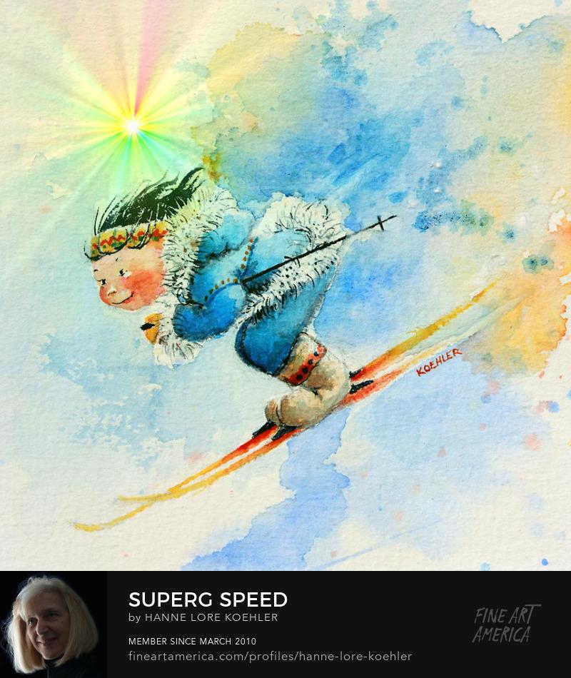 Skiing Art Prints For Baby Nursery