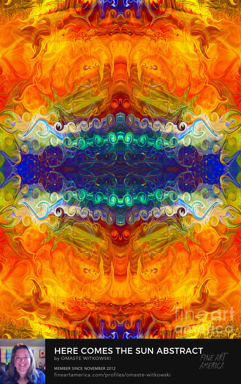 Here Comes The Sun Abstract Designs Art Prints