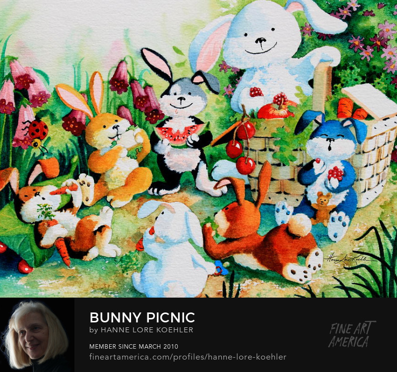 Bunny Picnic Decor Pictures For Kids