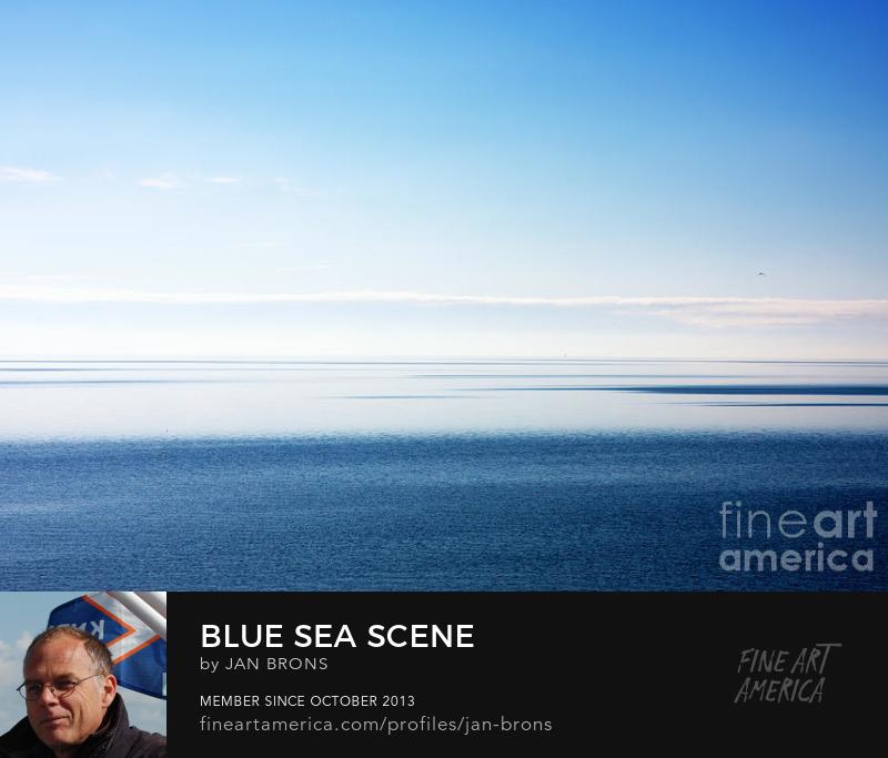 Blue sea scene - Photography Prints