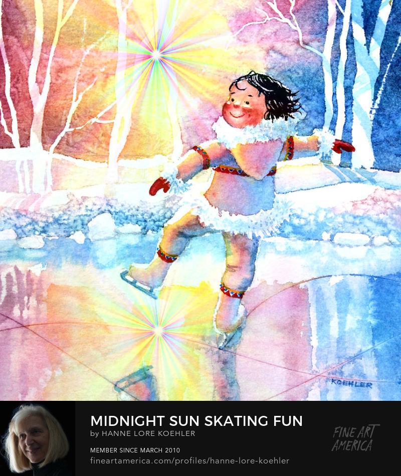 Figure Skater Art Prints For Baby Nursery