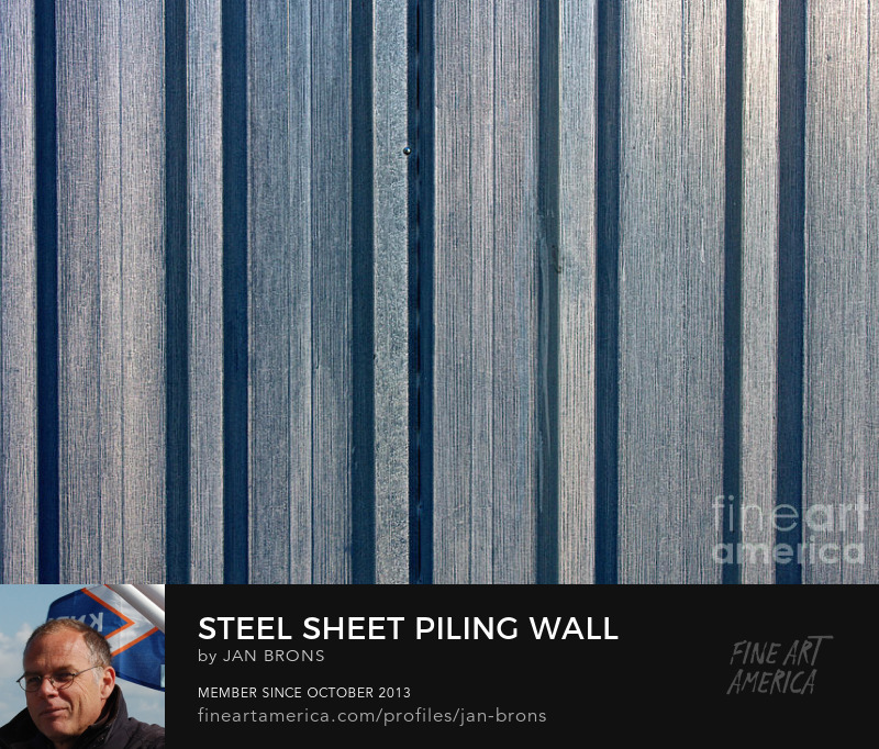 Steel sheet piling wall - Photography Prints