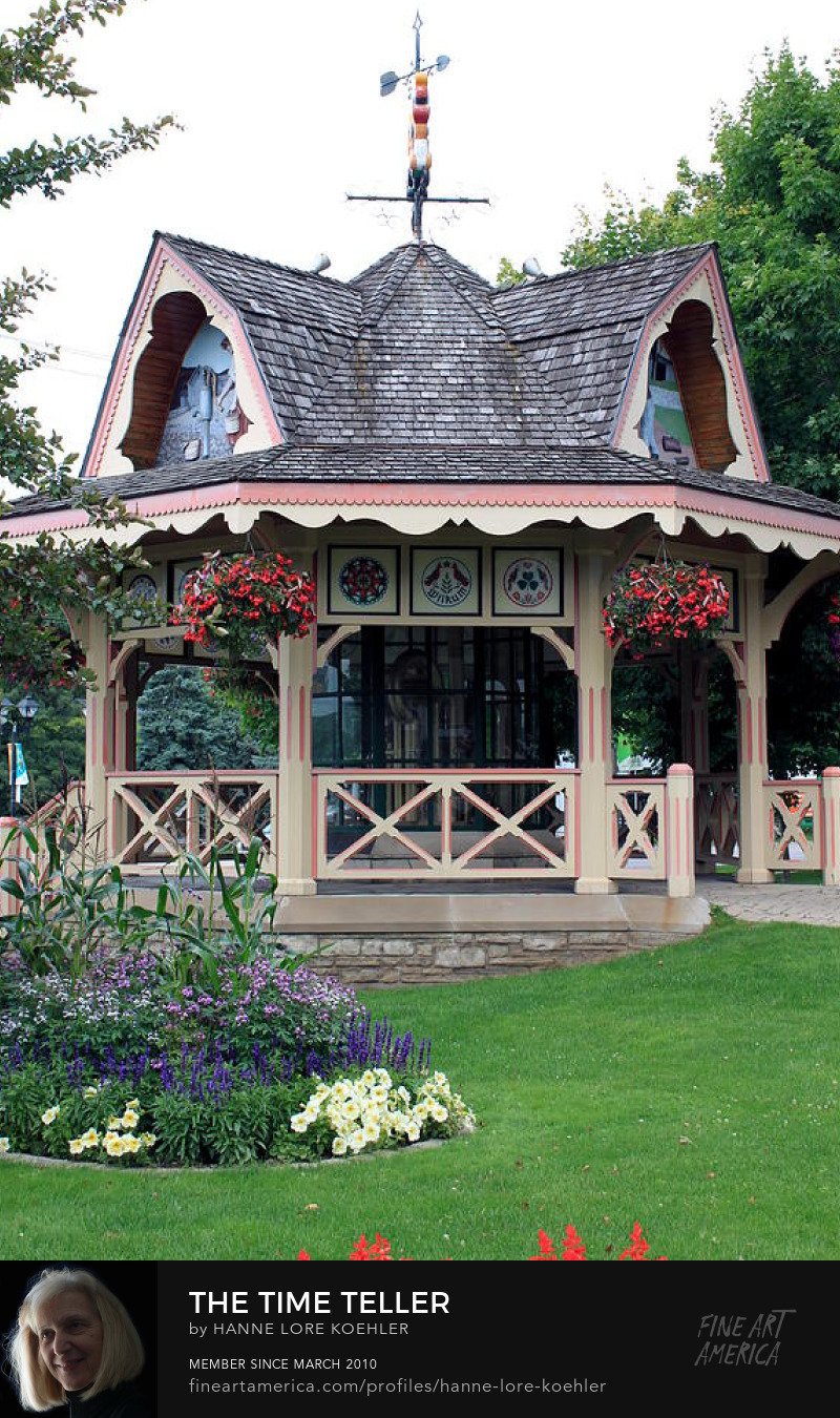 Waterloo Heritage Time Teller Gazebo Art Prints