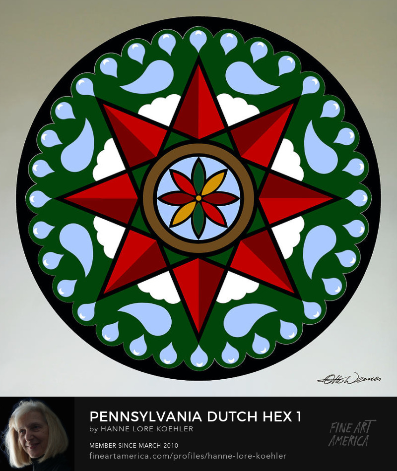Pennsylvania Dutch Mennonite Hex Folk Art Prints