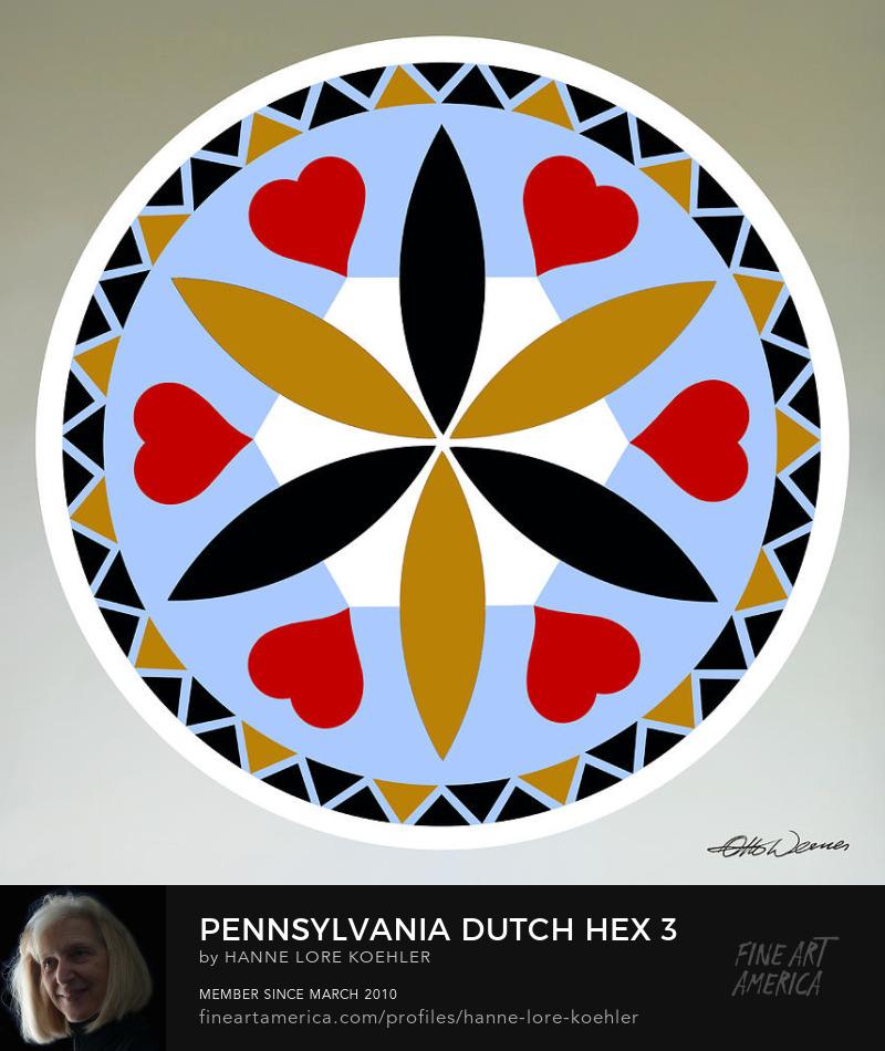 Pennsylvania Dutch Mennonite Hex Folk Art Prints