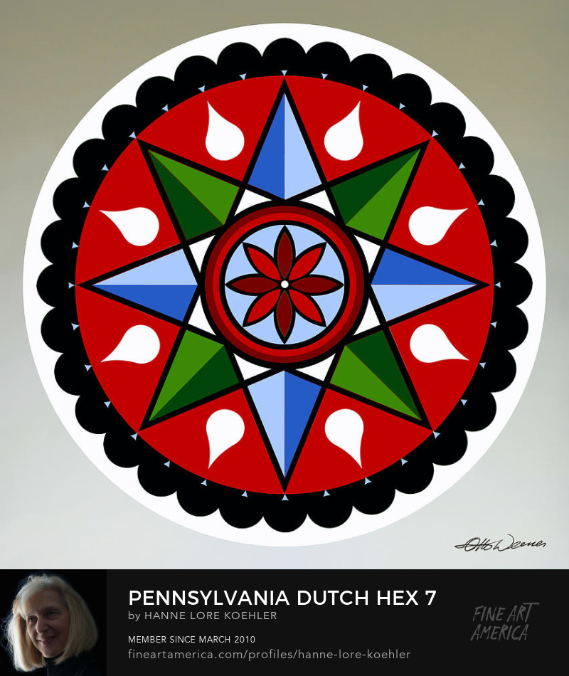 Amish Hex Folk Arrt Prints