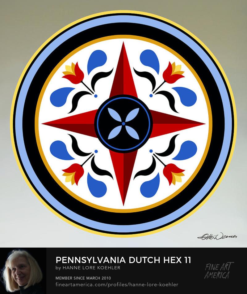 Waterloo County Mennonite Hex Folk Art Prints