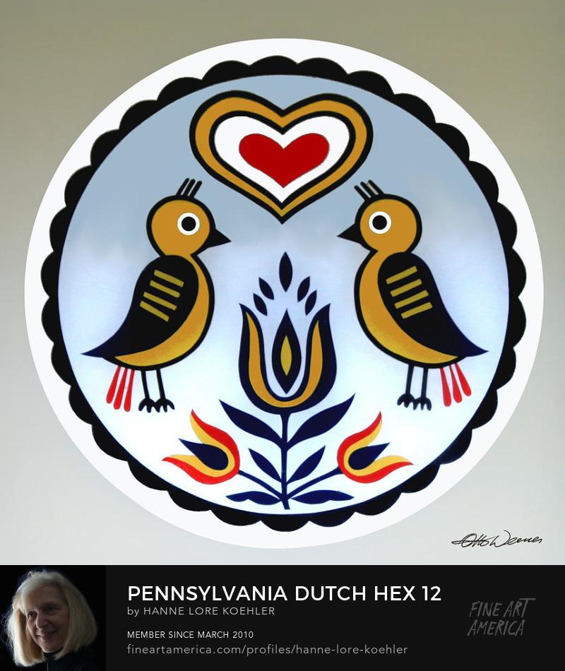 Pennsylvania Dutch Barn Hex Folk Art Prints
