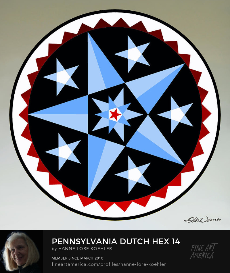 Pennsylvania Dutch Amish Hex Folk Art Prints