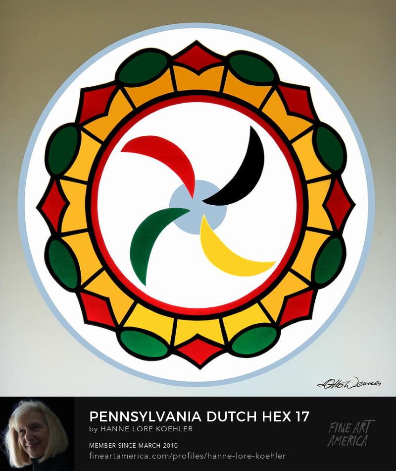 Mennonite Cartwheel Wagon Wheel Hex Folk Art Prints