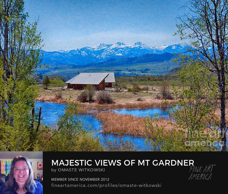Majestic Views Of Mt Gardner Landscape
