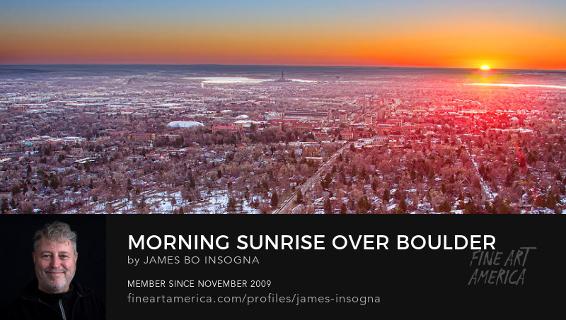 Morning Sunrise Over Boulder Colorado University Panorama Print
