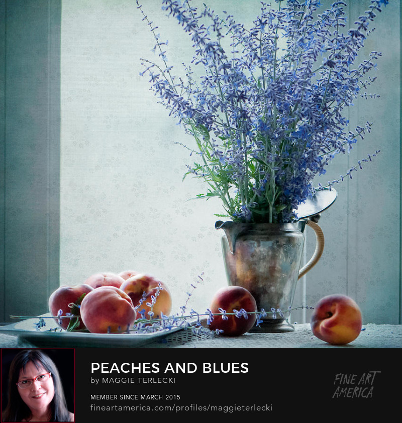 Peaches and Blues by Maggie Terlecki