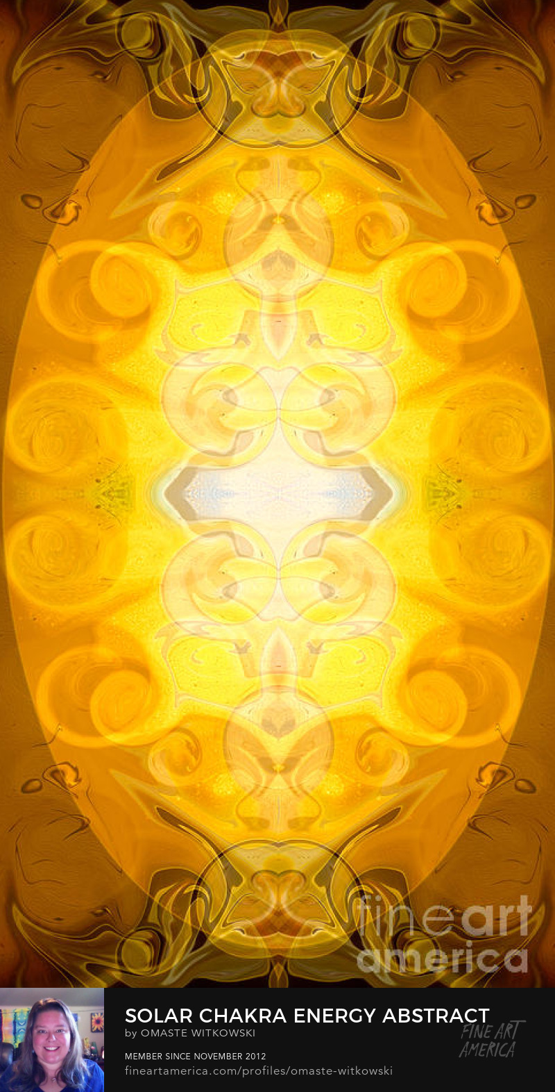 Solar Chakra Energy Abstract Organic Bliss Art Prints