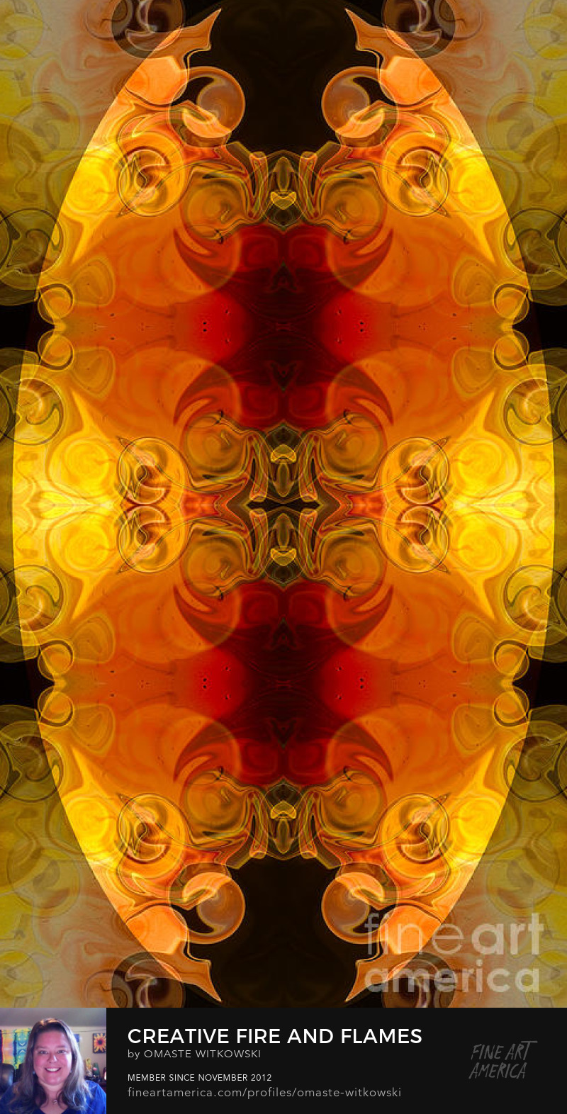 Creative Fire and Flames Abstract Organic Art Prints