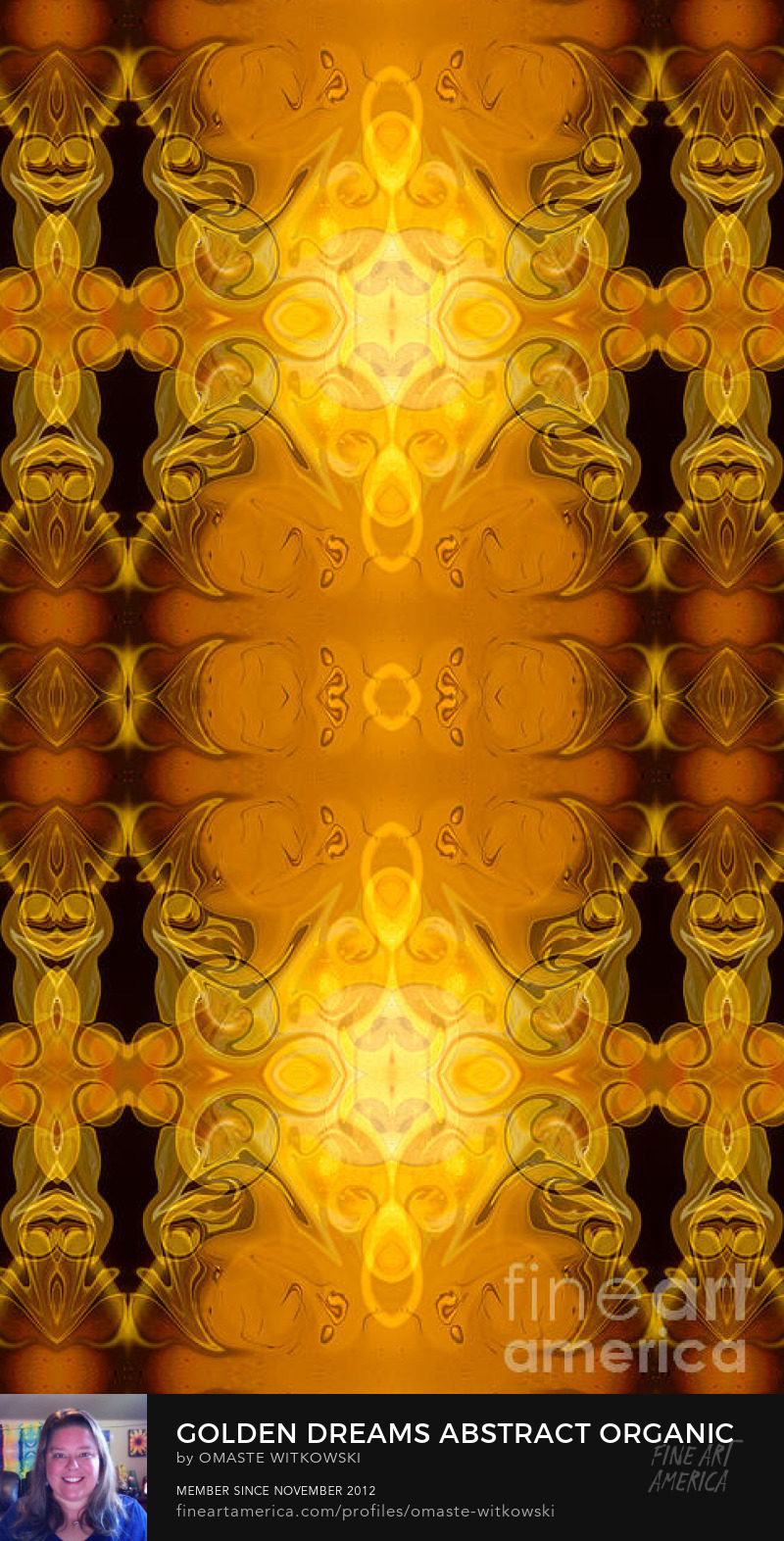 Golden Dreams Abstract Organic Bliss Art Prints