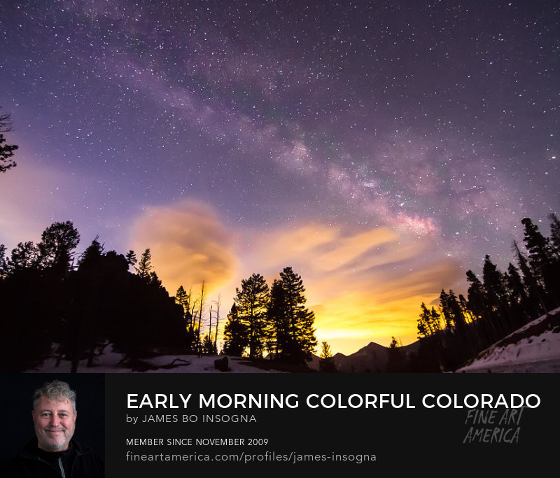 Early Morning Colorful Colorado Milky Way View Art Print