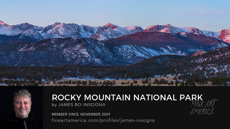 Rocky Mountain National Park First Light Panorama Art Prints