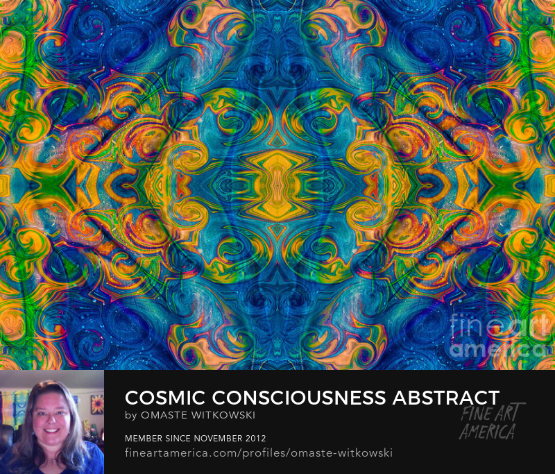 Cosmic Consciousness Abstract Design Art by Omaste Witkowski
