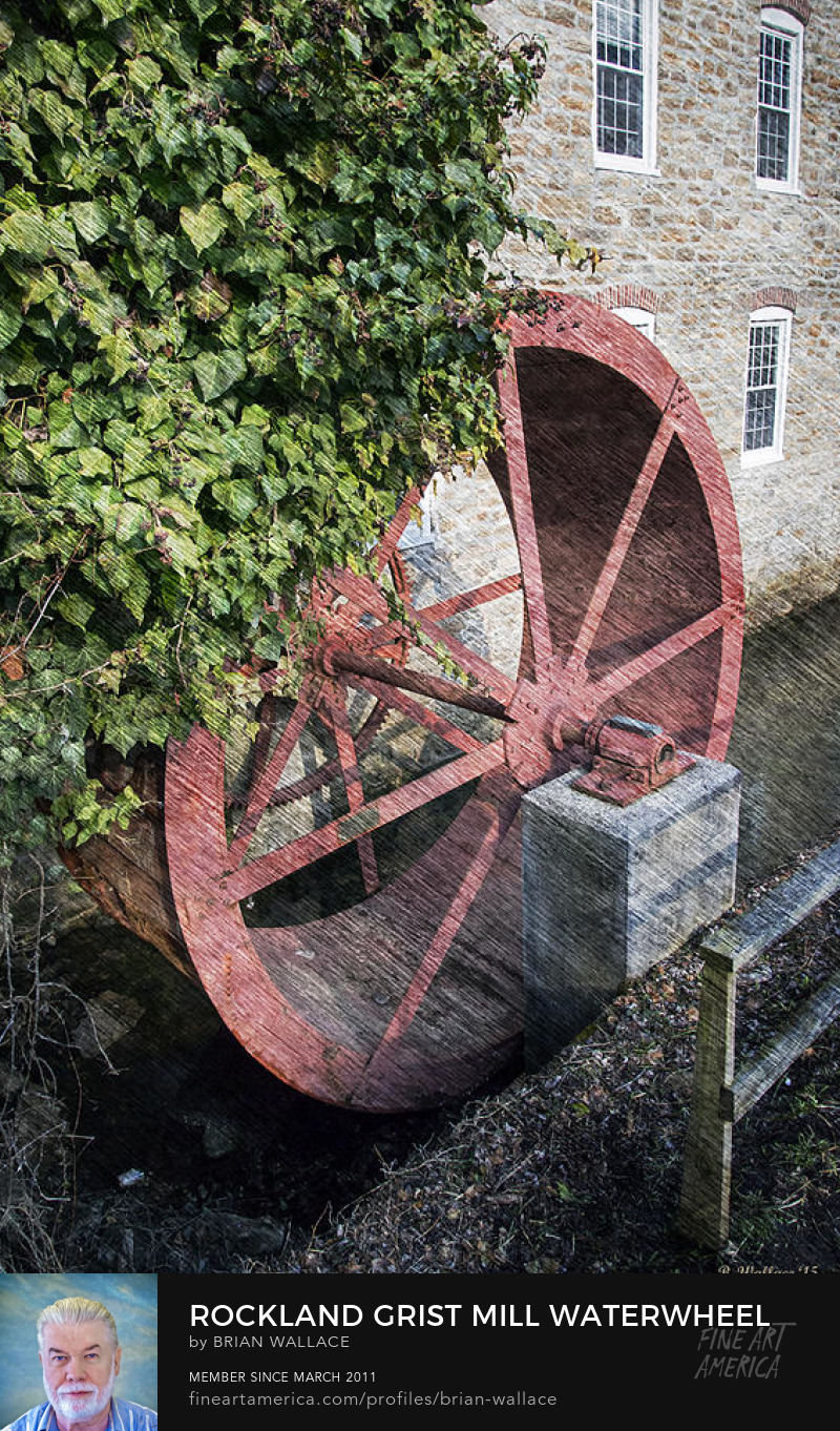 Rockland Grist Mill Waterwheel by Brian Wallace