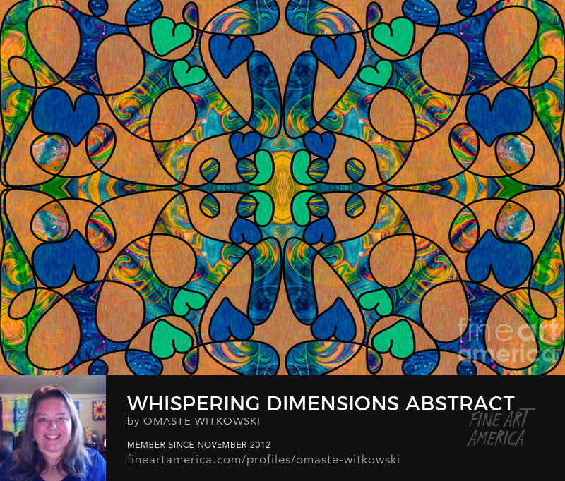 Whispering Dimensions Abstract Fabric Design Artwork
