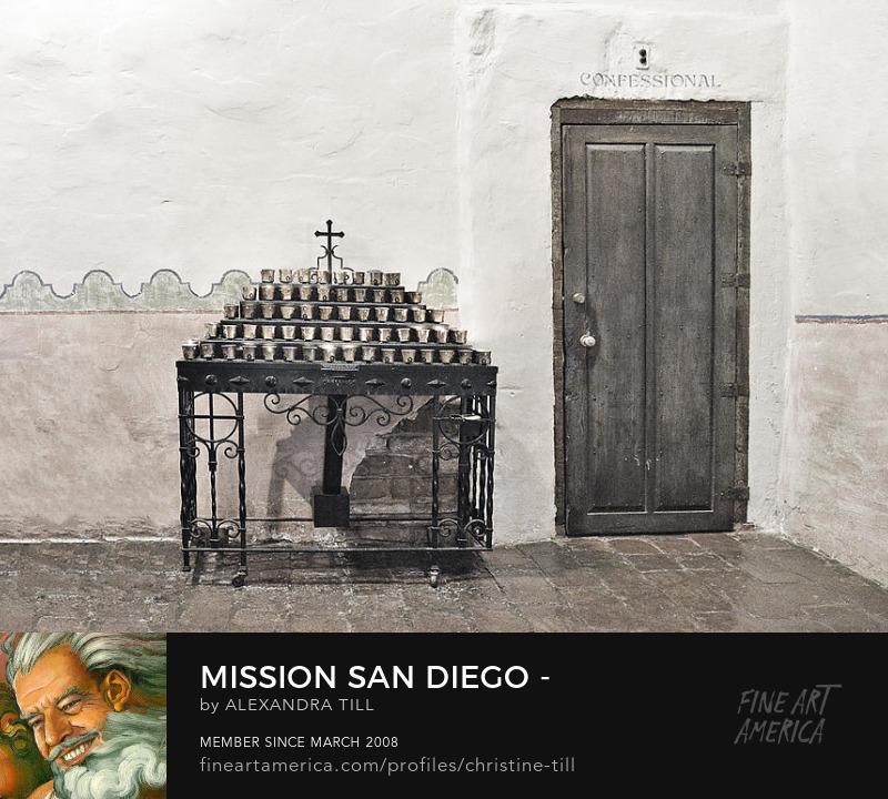 Mission San Diego - Confessional Door - Christine Till Fine Art Photography