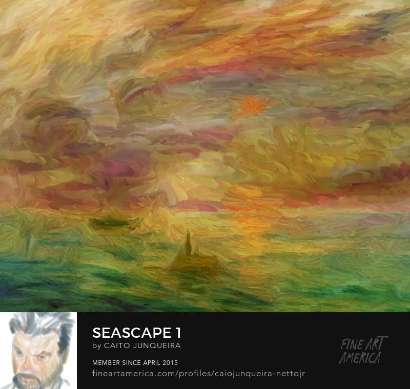 Seascape Art Print Monet Style