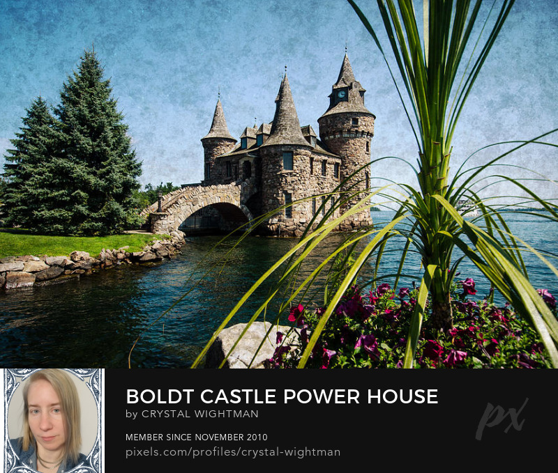 Boldt Castle boat house on Heart Island in Thousands Islands New York by crystal Wightman.