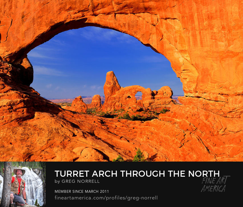Turret Arch in the Windows District of Arches National Park